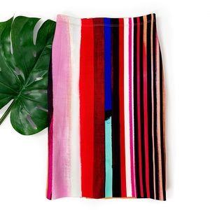Clover canyon eclipse neoprene striped print skirt
